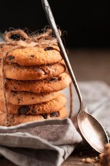Zbliżenie czekoladowe ciasteczka