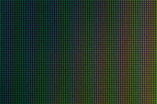 Zbliżenie dioda led z panelu wyświetlacza led monitora komputerowego do projektowania.