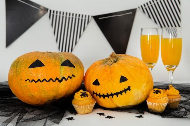 Zbliżenie dyni halloween
