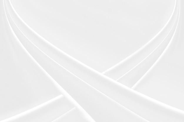 Zbliżenie elegancki zmięty białej jedwabniczej tkaniny sukienny tło i tekstura. luksusowy projekt tła. - obraz.