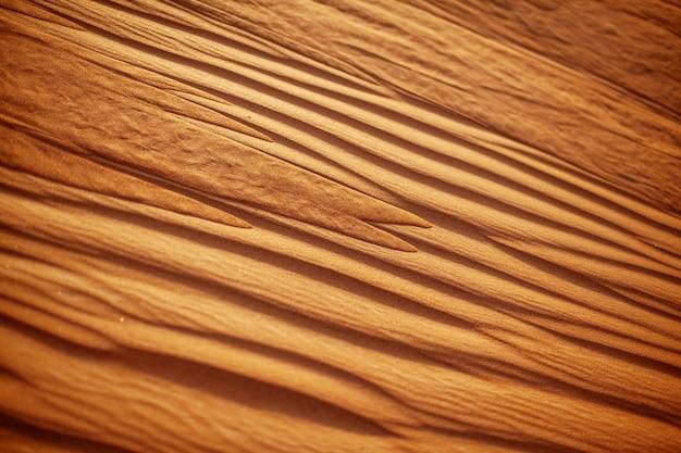 Zbliżenie falista piaskowata pustynna tekstura. widok z góry