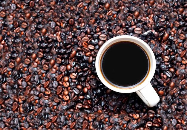 Zbliżenie filiżanki kawy