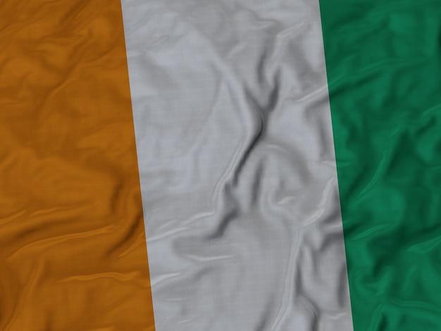 Zbliżenie flagi potargane cote d ivoire