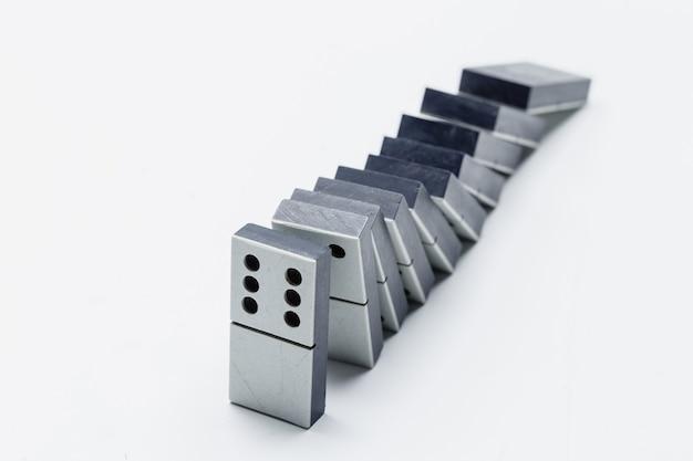 Zbliżenie gry domino