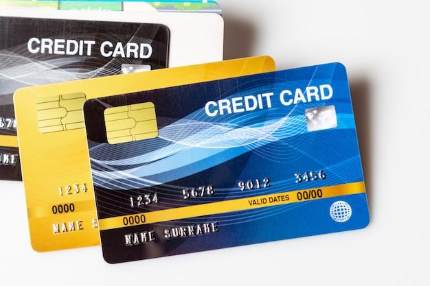 Zbliżenie kart kredytowych