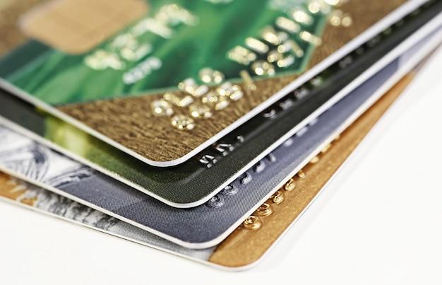 Zbliżenie karty kredytowej