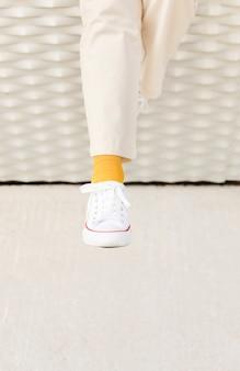 Zbliżenie kobiety nogi