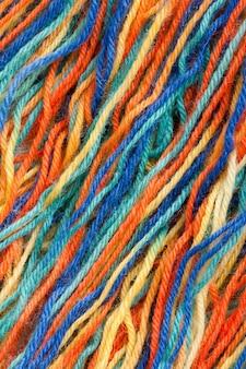 Zbliżenie kolorowych wątków