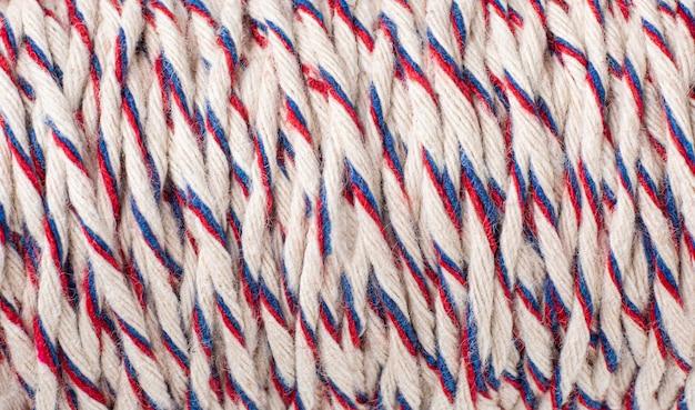 Zbliżenie kompozycji tekstury liny z widokiem z góry
