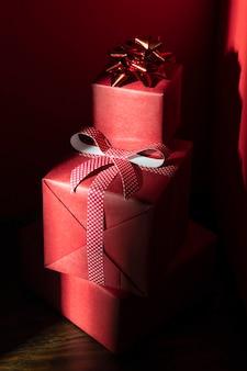 Zbliżenie koncepcji prezenty świąteczne