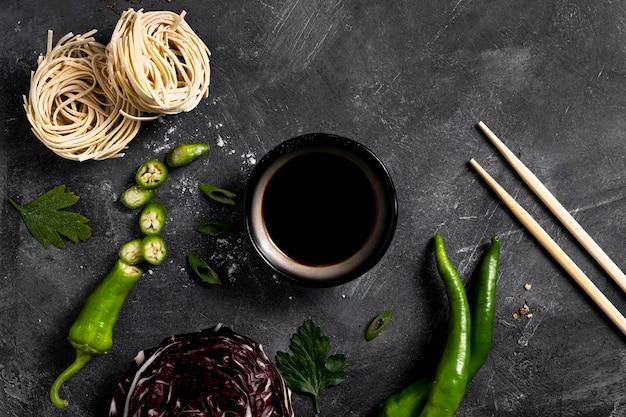 Zbliżenie koncepcji sosu sojowego