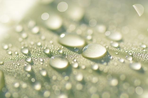 Zbliżenie krople deszczu na bakcground liści bananowych