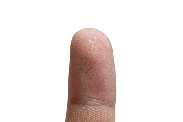 Zbliżenie makro identyfikacja ludzkich odcisków palców, bezpieczeństwo prywatności