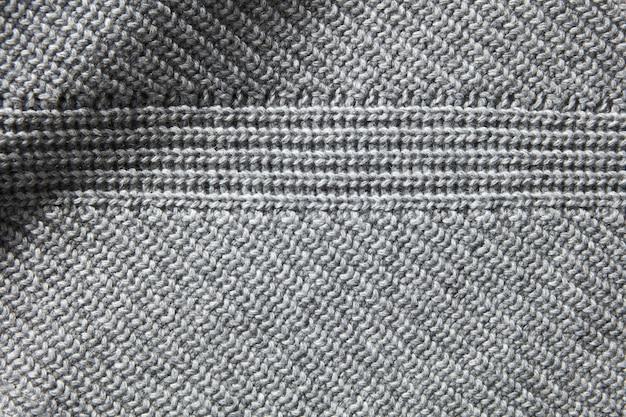 Zbliżenie makro tekstura dzianiny bawełnianej waflowej tkaniny