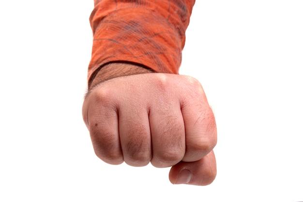 Zbliżenie męskiej dłoni