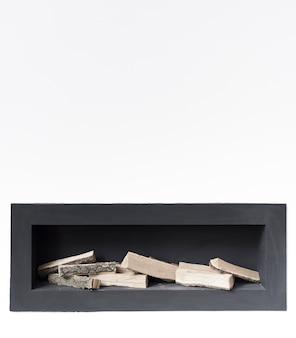 Zbliżenie minimalistyczny kominek