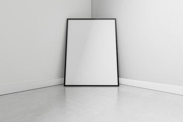 Zbliżenie minimalistyczny wystrój wnętrz z ramą