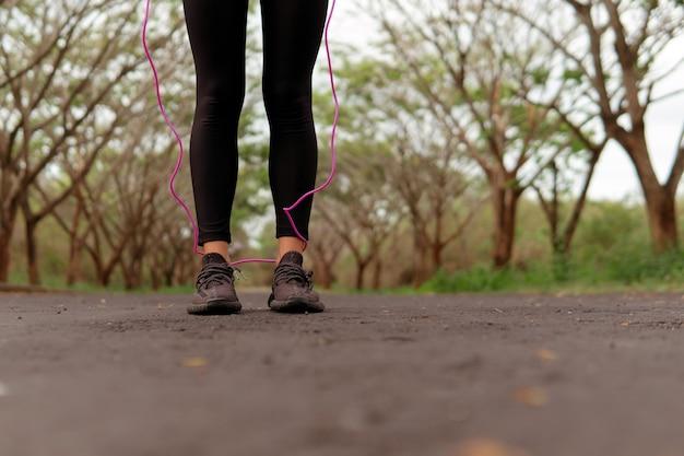 Zbliżenie na buty do biegania. bali