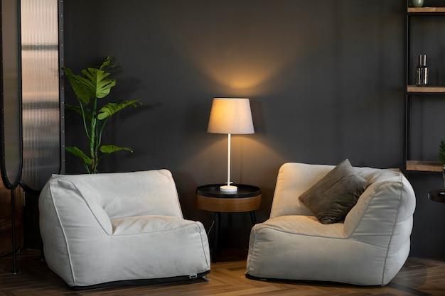 Zbliżenie na elegancką dekorację domu