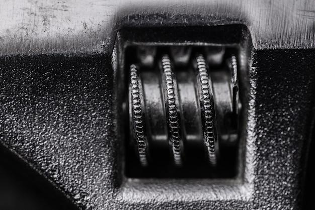 Zbliżenie na element klucza