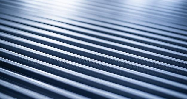 Zbliżenie na falistej powierzchni metalowej