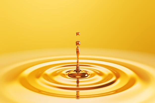 Zbliżenie na kroplę oleju kosmetycznego w płynie