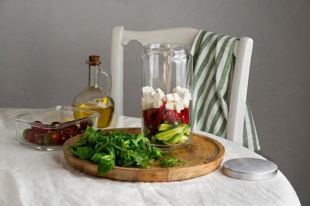 Zbliżenie na pyszne przygotowywanie posiłków