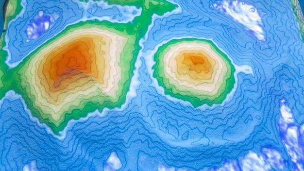 Zbliżenie na stół do piasku w rzeczywistości rozszerzonej (ar), zaawansowaną technologię do tworzenia narzędzia do nauki