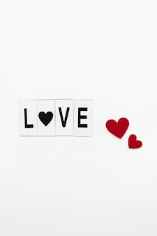Zbliżenie na tekst koncepcji miłości