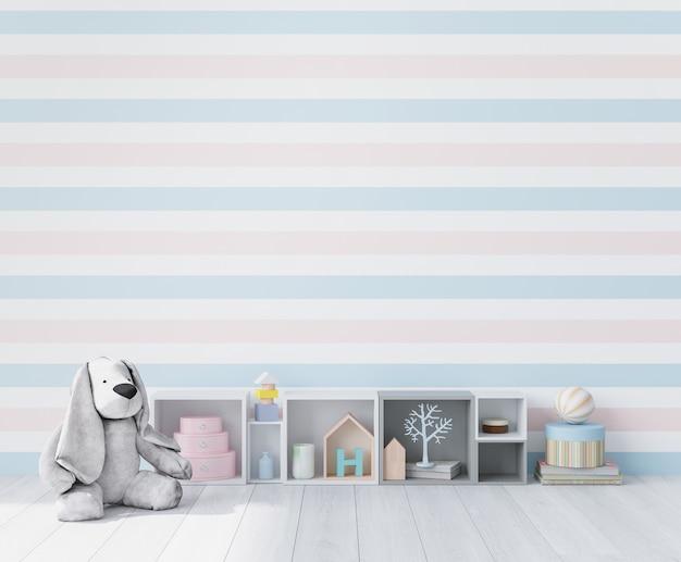 Zbliżenie na wnętrze pokoju zabaw dla dzieci
