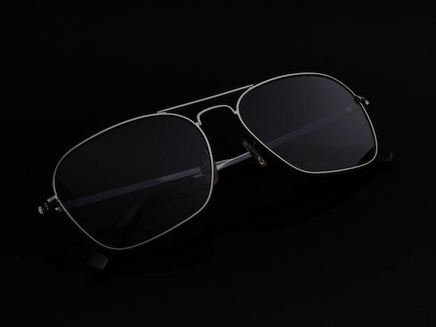 Zbliżenie okulary spolaryzowane studio czarny jasny ciemny czarny
