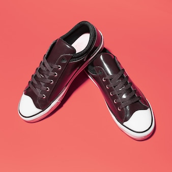 Zbliżenie: para butów vintage trampki