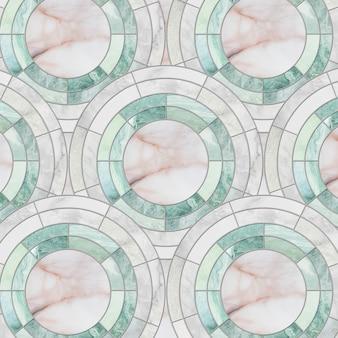 Zbliżenie powierzchni płytki okręgu wzór mieszanką koloru marmuru kamienia podłoga tekstury tło