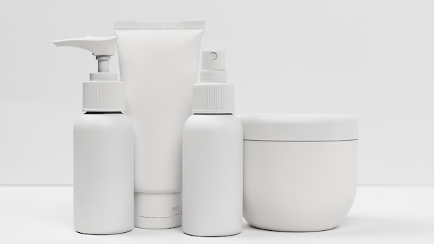 Zbliżenie produktów kosmetycznych z miejsca na kopię
