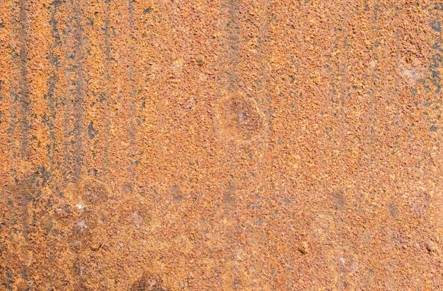 Zbliżenie rdzewiał metalu talerza tekstury tło