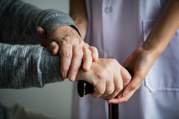 Zbliżenie ręki wsparcia