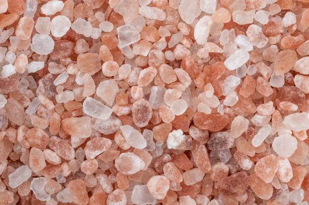 Zbliżenie różowej soli himalajskiej