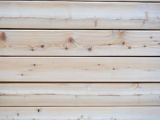 Zbliżenie ściany clapboard. drewno poddane obróbce, linie poziome. może służyć jako drewniane tło pod napisy