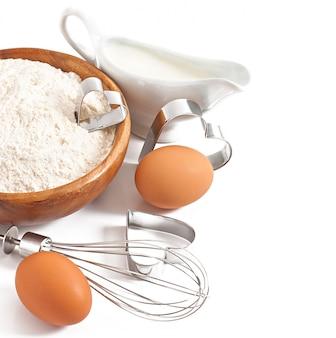 Zbliżenie składników do pieczenia