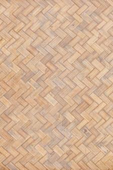 Zbliżenie stary i brudny bezszwowy bambusowy splot tekstury tła