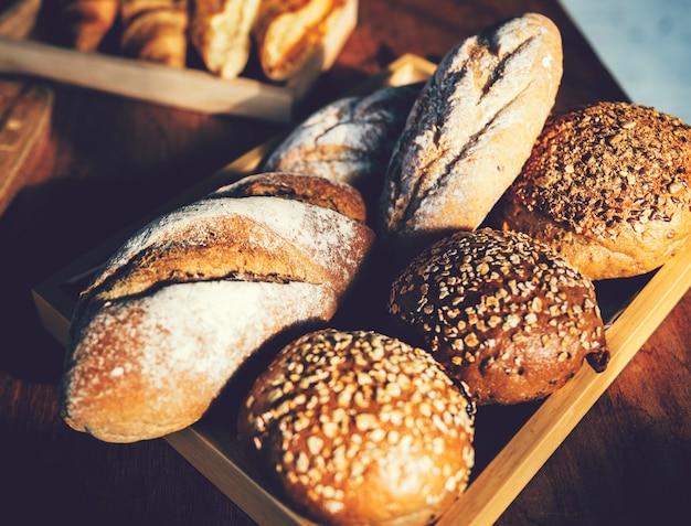 Zbliżenie świeżo upieczony chleb