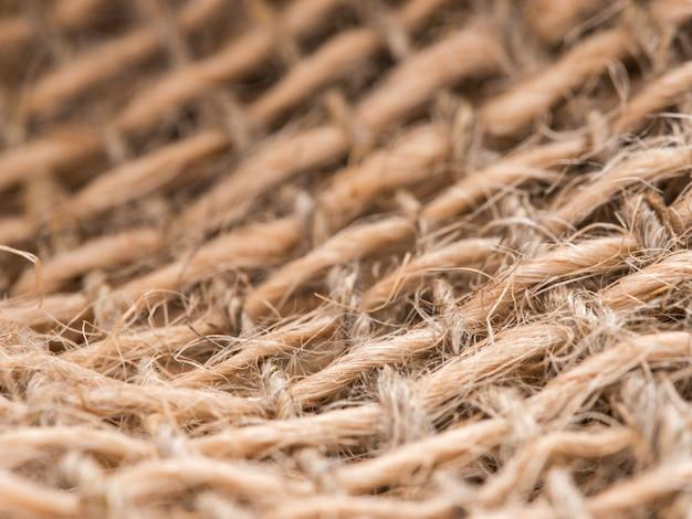 Zbliżenie tekstury sznurka juty