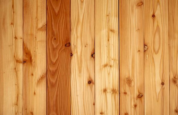 Zbliżenie tekstury żółty drewniany tło. struktura drewna z unikalnym wzorem. pusta brązowa drewniana ściana.