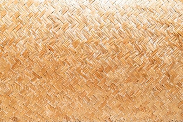 Zbliżenie tkane tekstury kosz na tle