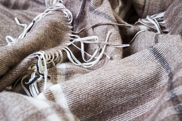 Zbliżenie tła kratki zw kremowych odcieniach beżu