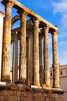 Zbliżenie widok antyczna rzymska świątynia