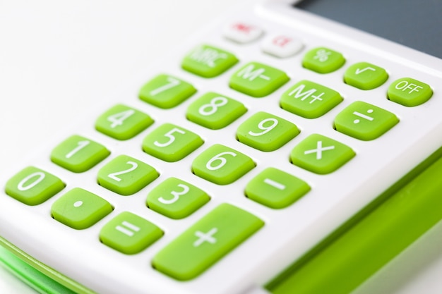 Zbliżenie wizerunek kalkulator klawiatura