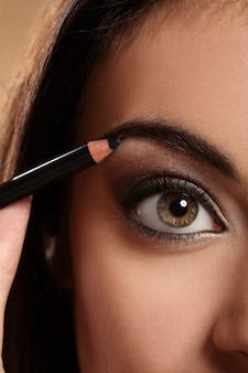 Zbliżenie wizerunek kobiety oko
