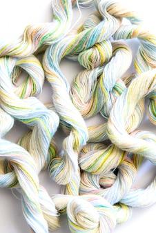 Zbliżenie włókna tkaniny są różnokolorowe