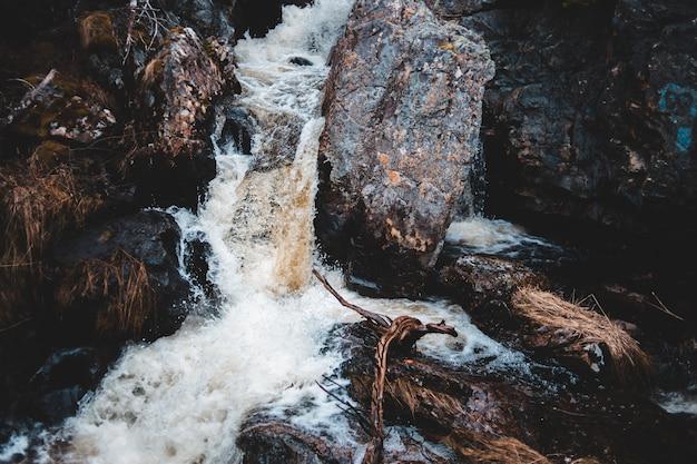 Zbliżenie wodospadu